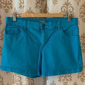 ⭐️NY&Co aqua blue stretch denim shorts 10